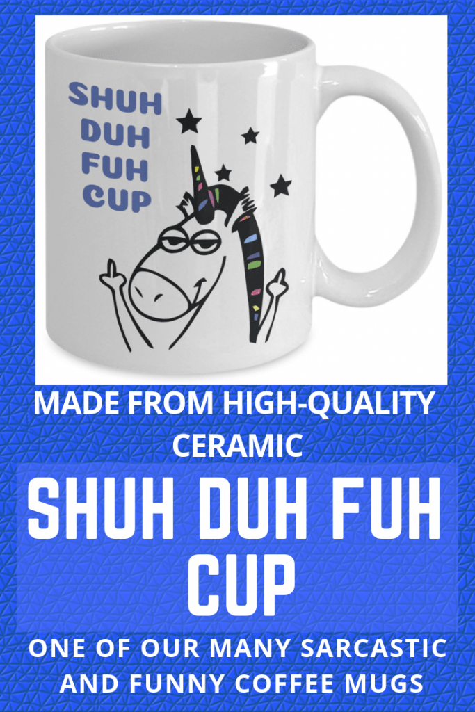 shu duh fuh cup unicorn coffee mug