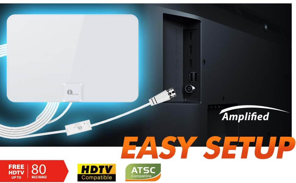 Upgraded 2019 1byone Digital Amplified Indoor HD TV Antenna