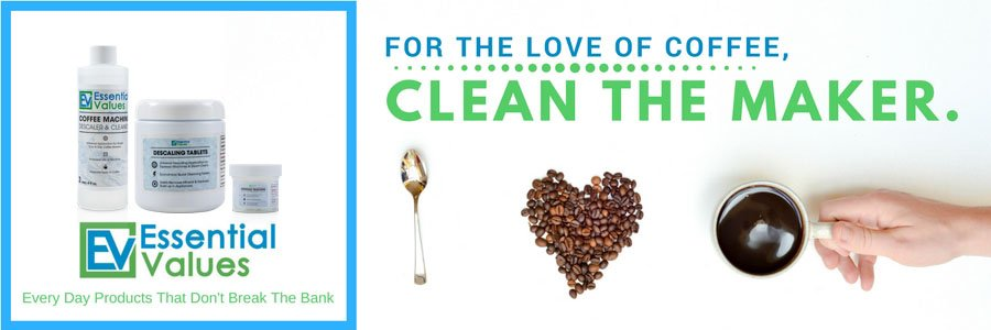 essential values cleaner coffee maker