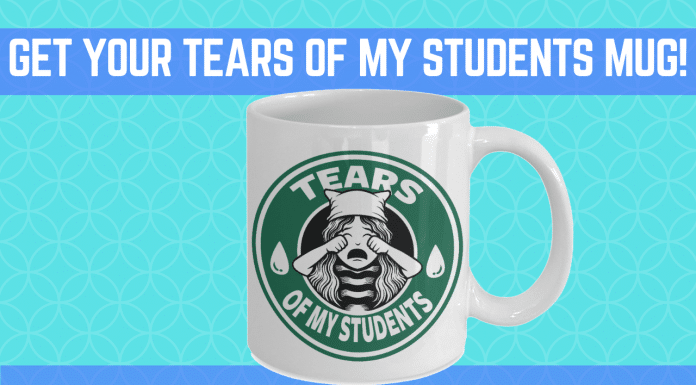 tears of my students mug featured