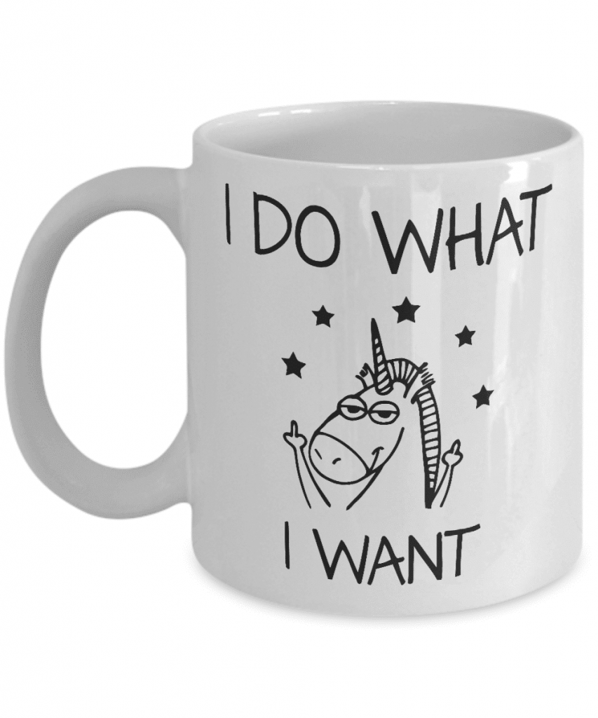 I do what I want funny unicorn mug