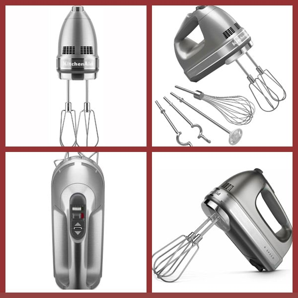 9-Speed Contour Silver Hand Mixer kitchenaid