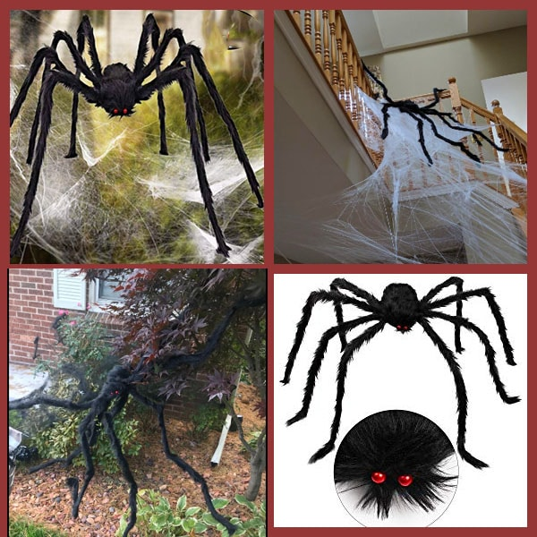 Aiduy Outdoor Halloween Decorations Scary Giant Spider