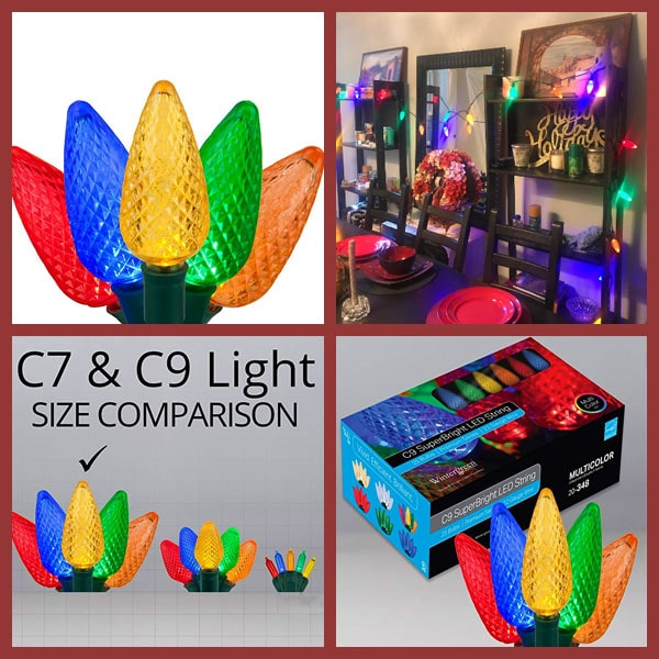 C9 LED Indoor Outdoor Christmas Light String
