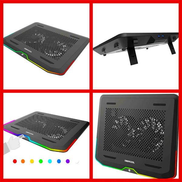 DEEP COOL N80 RGB Laptop Cooling Pad