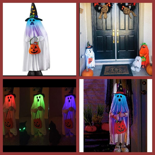 Lighted Halloween Character Decorations, Ghost
