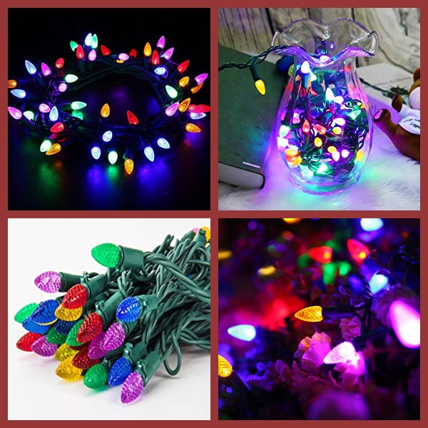 MAXINDA Outdoor LED String Lights Weatherproof Strawberry Lights