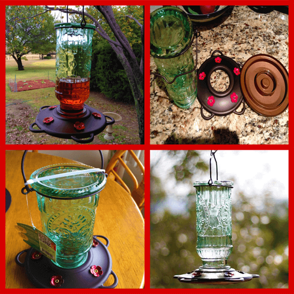 More Birds Vintage Hummingbird Feeder