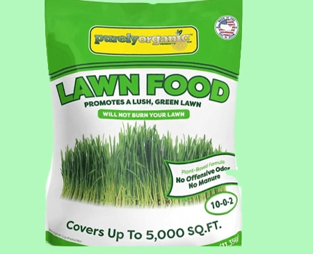 Purely organic lawn food fertilizer