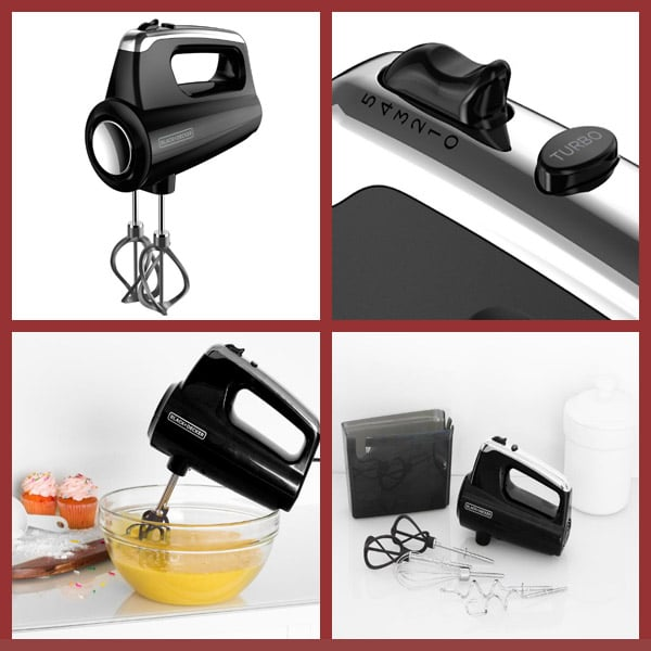 black decker Helix Hand 5-Speed Black Mixer
