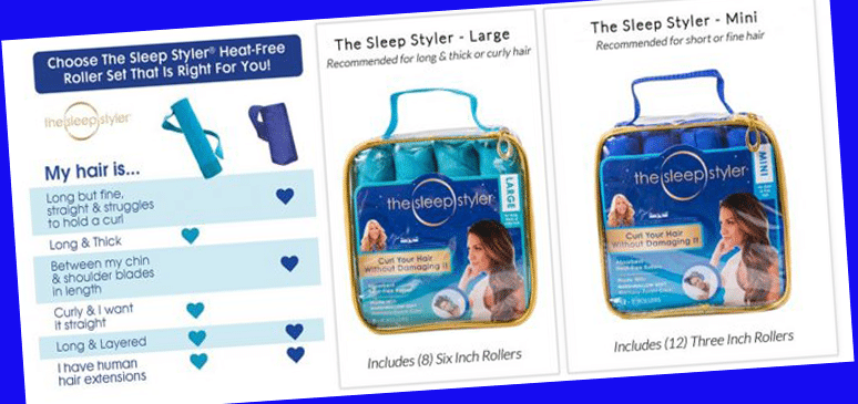 sleep styler sizes