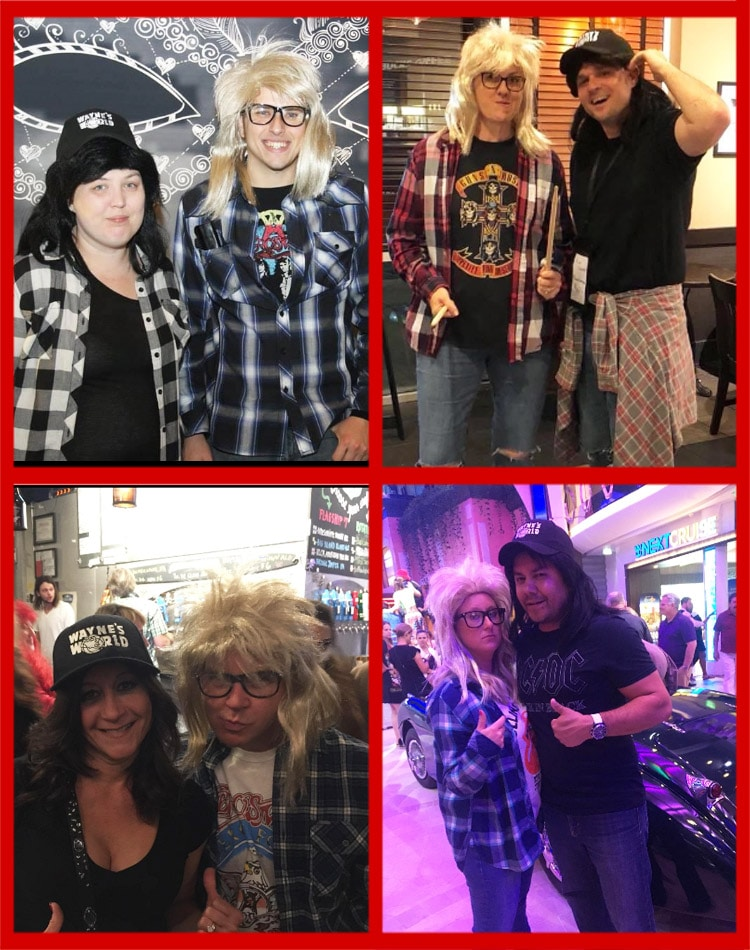 waynes world couples costume